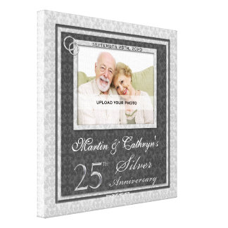 25th Anniversary 12x12 Personalized Photo Canvas Canvas Print