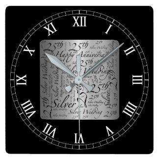 25th Anniversary Clock