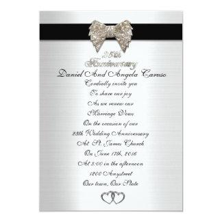 25th Anniversary invitation formal