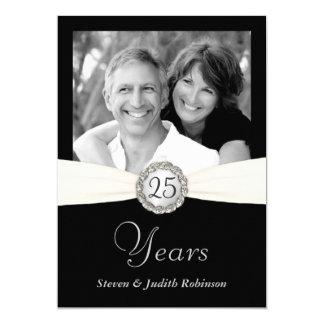 25th Anniversary Invitations - Custom Photo