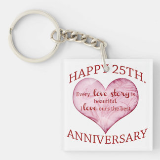 25th. Anniversary Key Ring