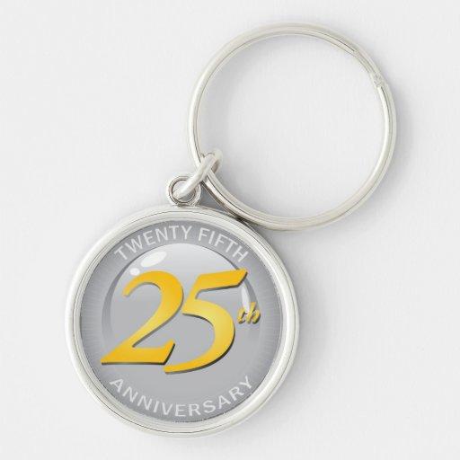 25th Anniversary Silver Seal Key Chains