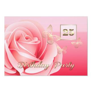 25th Birthday Party Custom Invitations