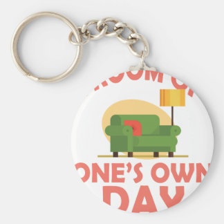 25th January - A Room Of One's Own Day Basic Round Button Key Ring