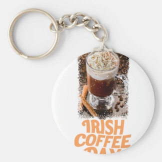 25th January - Irish Coffee Day Key Ring