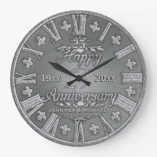 25th Silver Wedding Anniversary Clock
