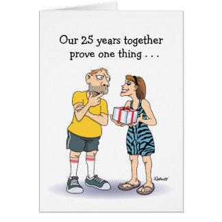 25th Wedding Anniversary Card: Love Card