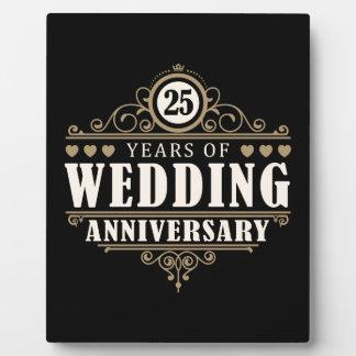 25th Wedding Anniversary Display Plaque