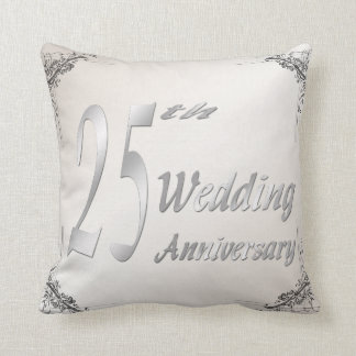25th Wedding Anniversary Keepsake Pillow