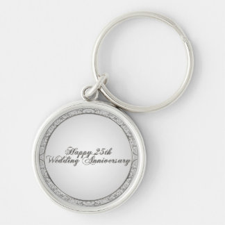 25th Wedding Anniversary Key Chain