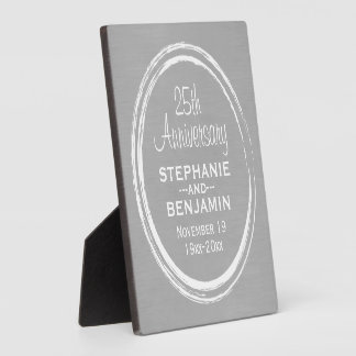 25th Wedding Anniversary Personalized Plaque