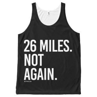 26 Miles - Not again -   Running Fitness -.png All-Over Print Singlet