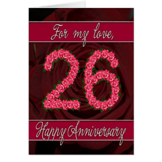 26th Wedding Anniversary Greeting Cards Zazzle Co Nz