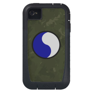 """29th Infantry Division """"29 Lets Go!"""" WW II Camo iPhone4 Case"""