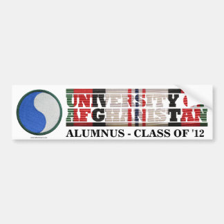 29th Infantry Division U of Afghanistan Sticker Bumper Stickers