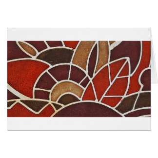 #2 1928 Deco glass panel from the Oviatt Building Card