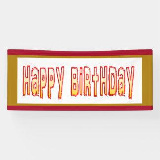 2.5' x 6' Banner HAPPYbirthday Happy+BIRTHDAY
