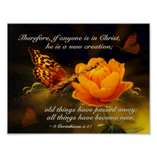 2 Corinthians 5:17 If anyone is in Christ, Bible Poster