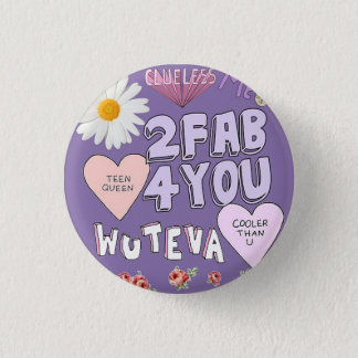 2 Fab 4 You 3 Cm Round Badge