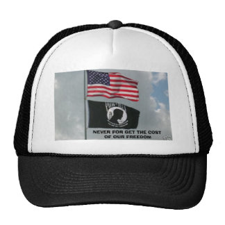 2 flages, NEVER FOR GET THE COST OF OUR FREEDOM Cap