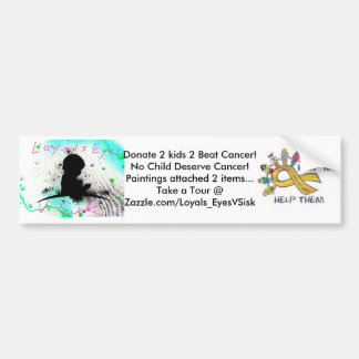 2 Kids 2 Beat cancer Custom Bumper Sticker