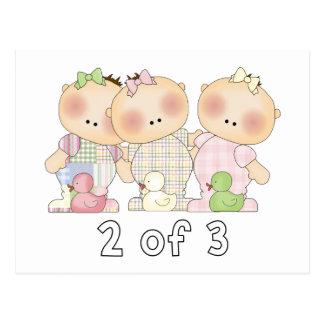 2 of 3 Triplet Cuties Postcard