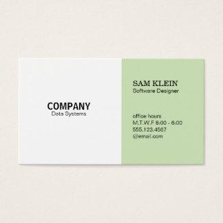2 Panel Mint Green Business Card