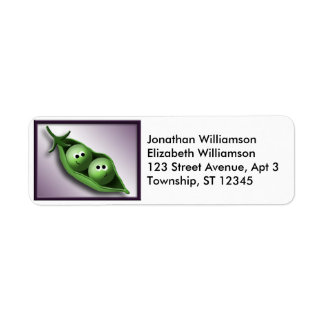 2 Peas in a Pod Return Address Labels