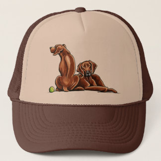 2 Rhodesian Ridgebacks Trucker Hat