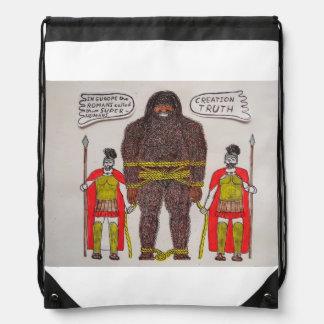 2 Romans & 1 big foot A, Drawstring Bag
