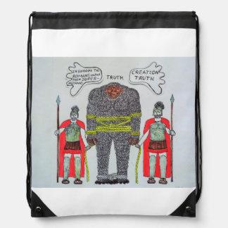 2 Romans & 1 big foot H, Drawstring Bag