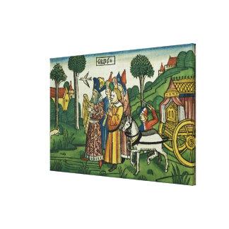 2 Samuel 6 1-5 David brings the Ark to Jerusalem, Canvas Print