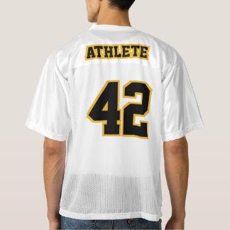 2 Side BLACK GOLD WHITE Men Football Jersey
