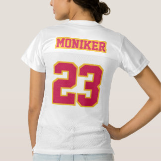 2 Side CRIMSON RED GOLD WHITE Womens Sports Jersey