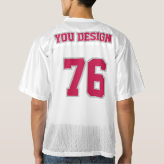 2 Side CRIMSON RED SILVER WHITE Mens Sports Jersey