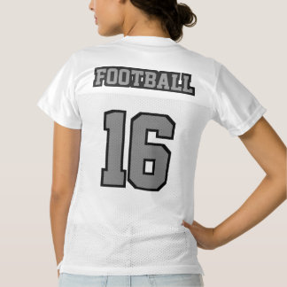 2 Side GREY BLACK WHITE Womens Football Jersey