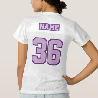 2 Side LIGHT PURPLE WHITE Womens Football Jersey