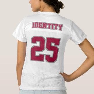2 Side MAROON GREY WHITE Womens Football Jersey
