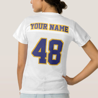 2 Side NAVY BLUE GOLD WHITE Womens Sports Jersey