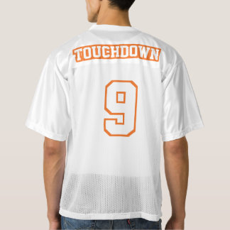 2 Side ORANGE WHITE Mens Football Jersey