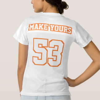 2 Side ORANGE WHITE Womens Football Jersey