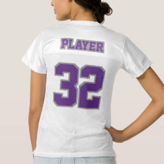 2 Side PURPLE GREY WHITE Womens Football Jersey