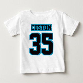 2 Side WHITE BLACK BLUE Football Crewneck Baby T-Shirt