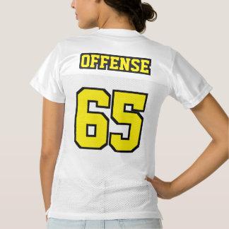 2 Side YELLOW BLACK WHITE Women Football Jersey