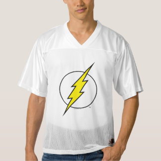 2 Sided Flash Lightning Bolt   Add Your Name Men's Football Jersey
