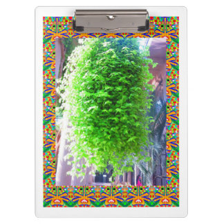 2 sides printed ACRYLIC CLIP BOARD Hanging Tree Clipboards