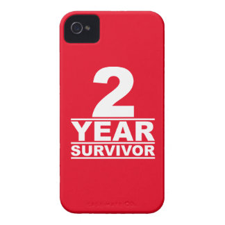 2 year survivor iPhone 4 Case-Mate case