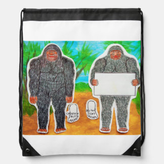 2 Yowie A, 1 text in outback Australia, Drawstring Bag