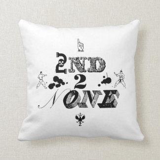 2nd 2 None - bk Throw Pillow