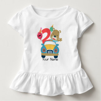 2nd Birthday Bear Toddler T-Shirt